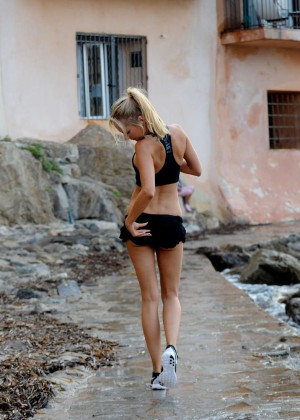 Kimberley Garner Bikini Workout: in Saint-Tropez -10