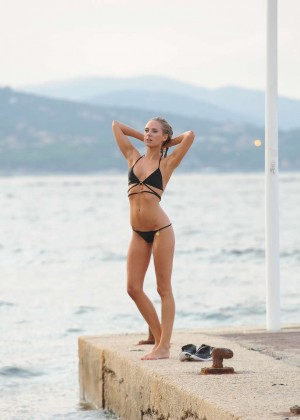 Kimberley Garner Bikini Workout: in Saint-Tropez -15