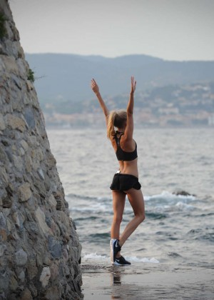 Kimberley Garner Bikini Workout: in Saint-Tropez -19