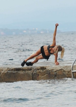 Kimberley Garner Bikini Workout: in Saint-Tropez -30
