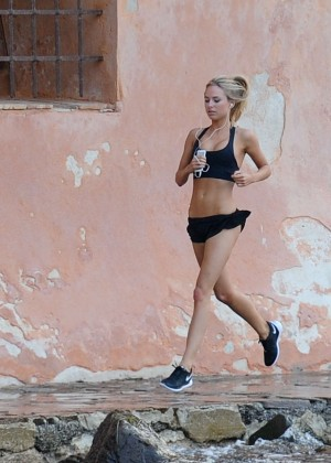 Kimberley Garner Bikini Workout: in Saint-Tropez -32