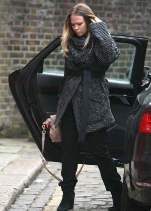 Kimberley Walsh - Arriving at recording studio in London