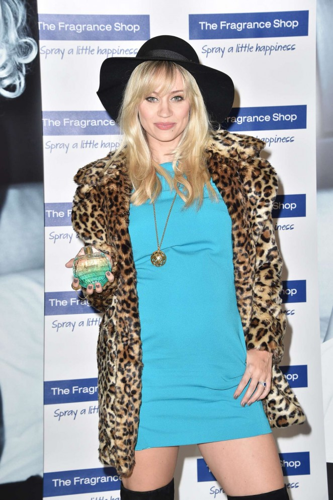 Kimberly Wyatt in Mini Dress at Fragrance Launch at Westfield Shopping Centre in London