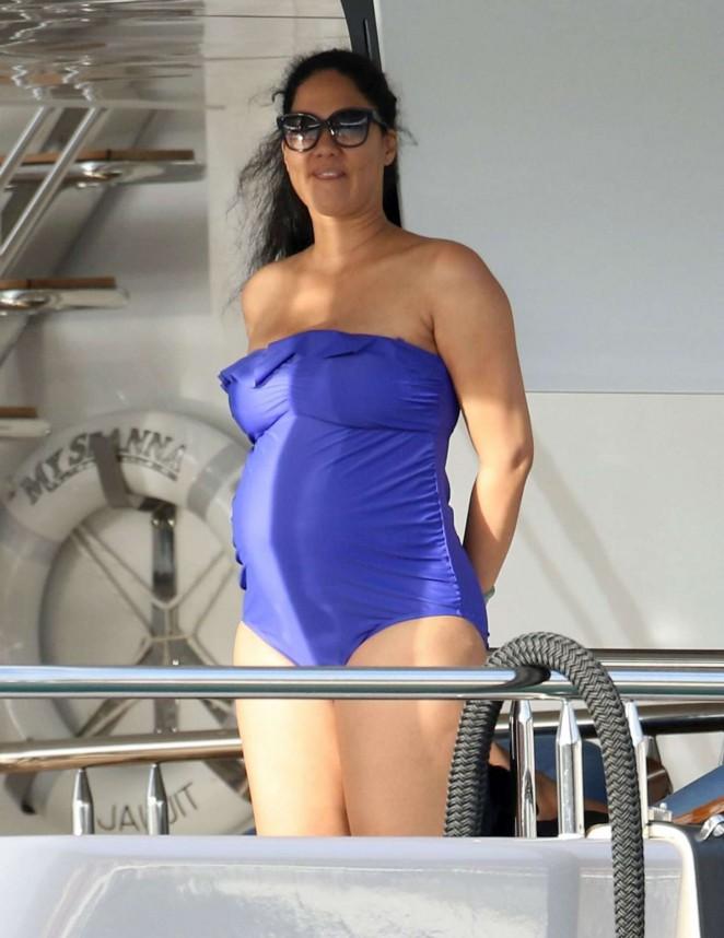 Kimora Lee – Wearing Swimsuit in St Barts