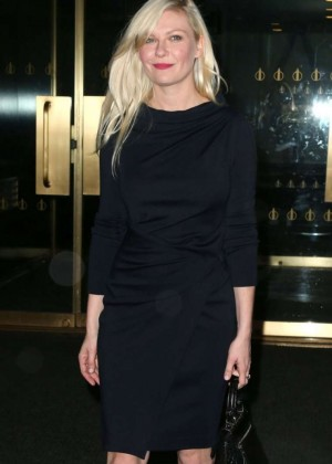 Kirsten Dunst in Black Dress at NBC Studios in NYC