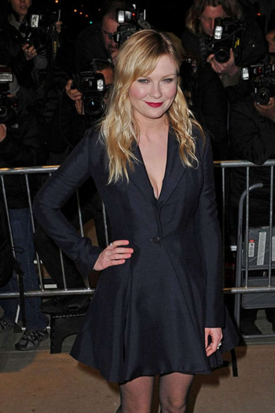 Kirsten Dunst shows her legs at On the Road premiere in New York