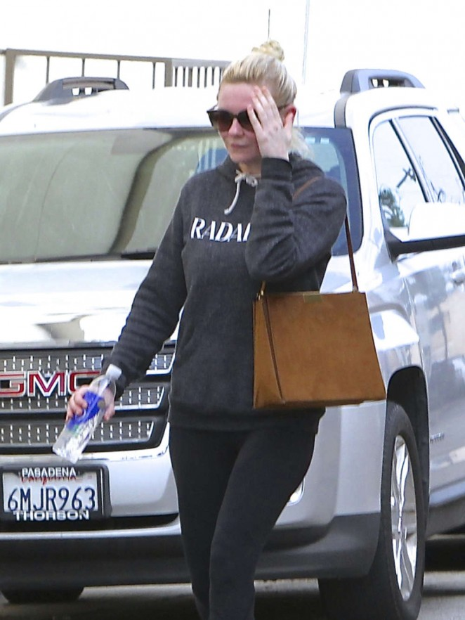 Kirsten Dunst in Leggings Out and about in LA