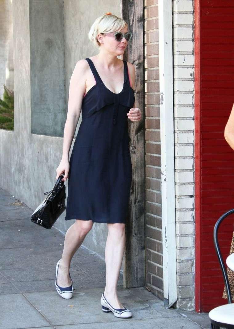 Kirsten Dunst in Black Dress out in Los Feliz