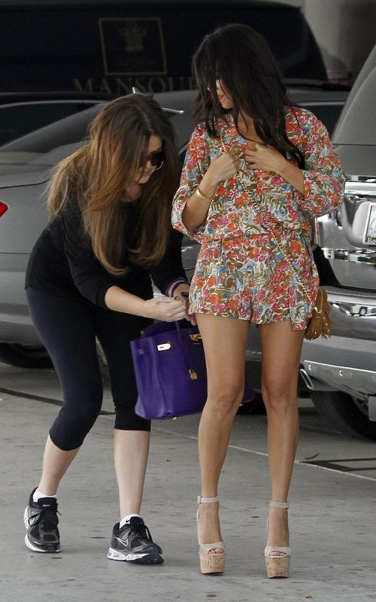 Kourtney And Khloe Kardashian Leggy Candids In La Gotceleb