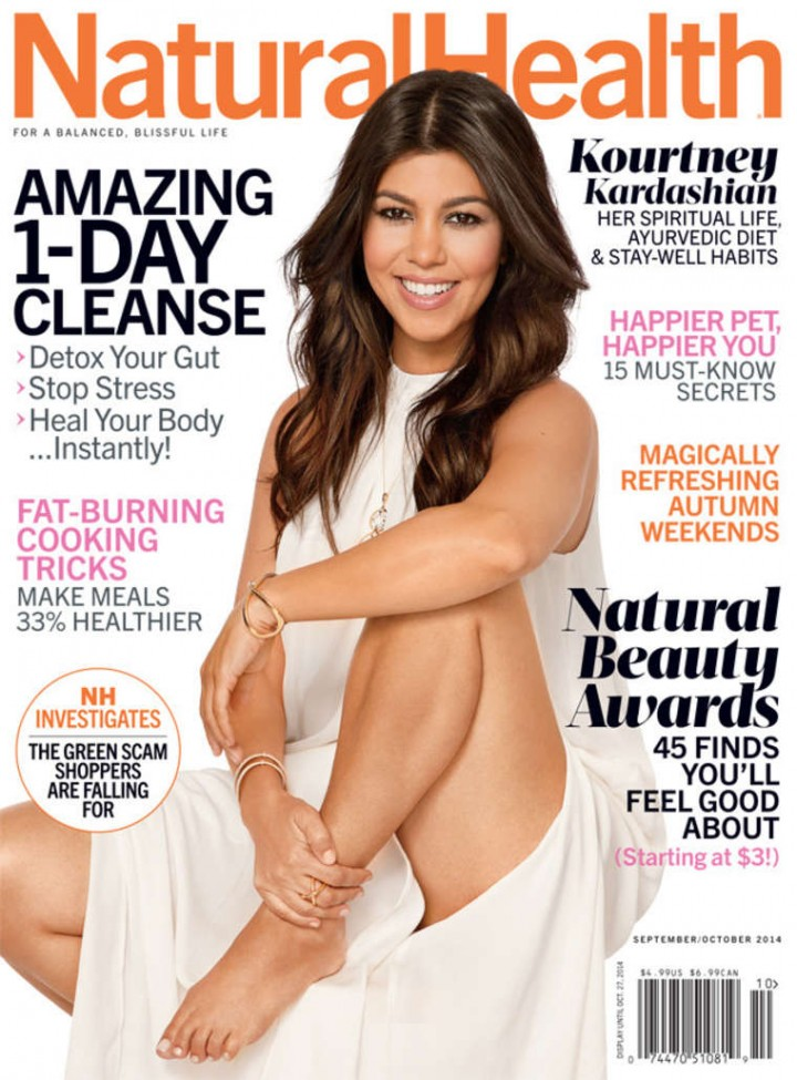 Kourtney Kardashian – Natural Health Cover (Sept/Oct 2014)