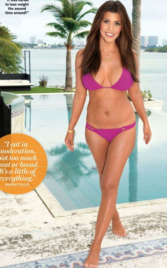 Kourtney Kardashian - Hot Bikini Body Post-Baby for US Weekly | January 14, 2013