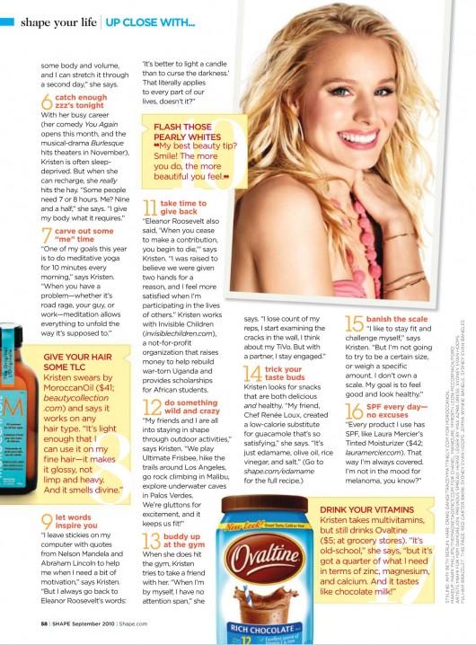 Kristen Bell – Shape Magazine (September 2010)