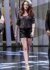 Kristen Stewart hot in shorts on El Hormiguero tv show in Spain