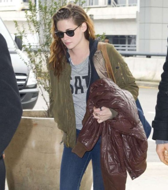 Kristen Stewart at JFK Airport in NYC