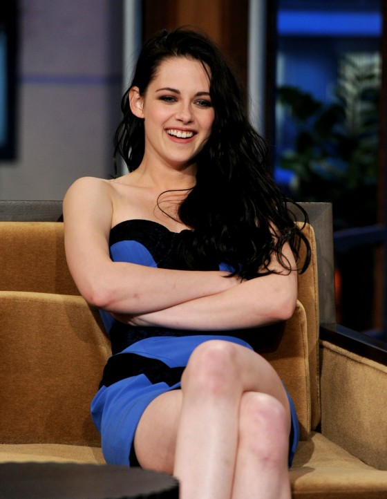 Kristen Stewart – Leggy Candids in Blue Dress-12