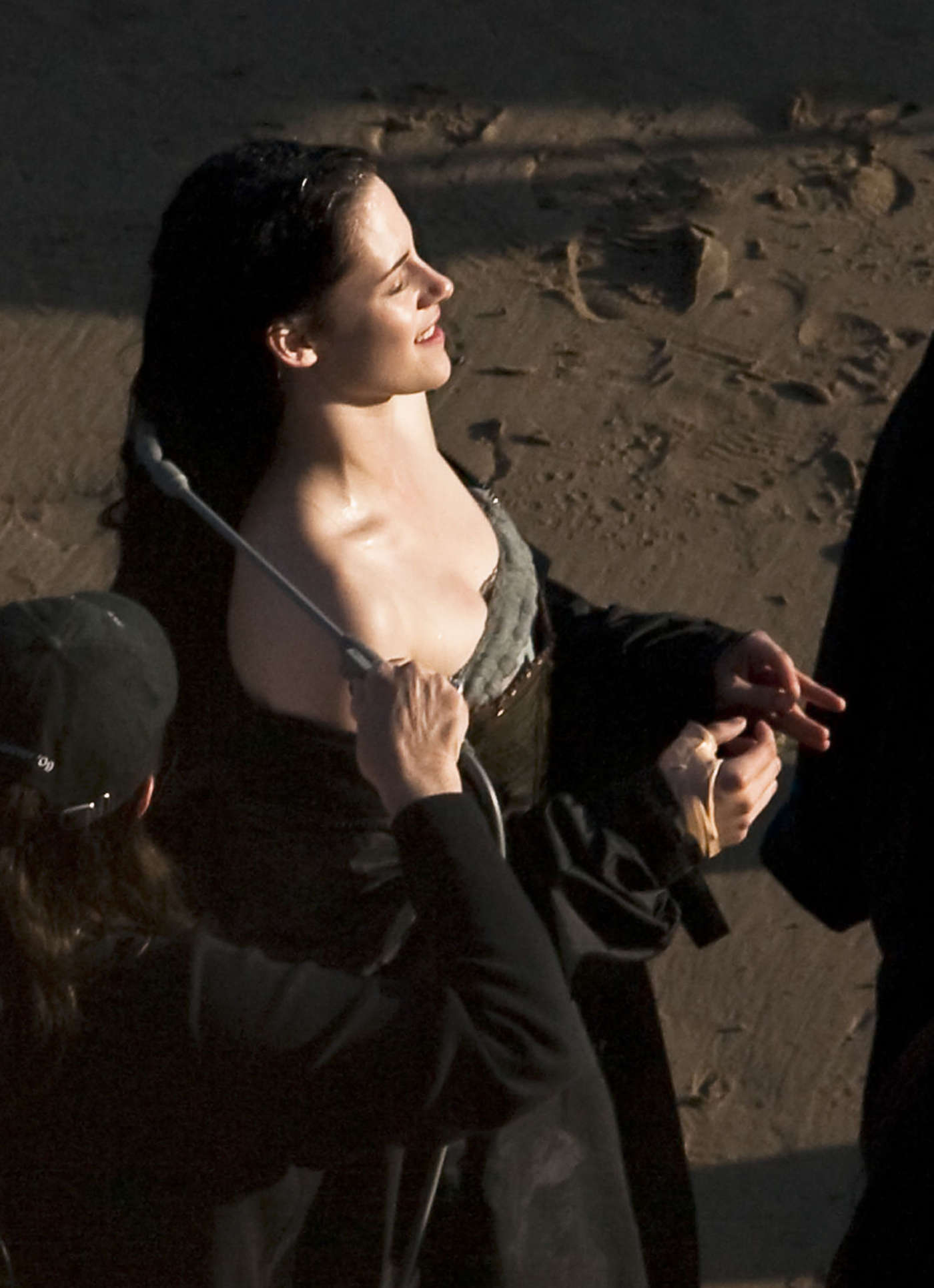 Kristen Stewart On The Set Of Snow White And The Huntsman