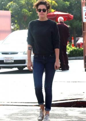 Kristen Stewart in Jeans Out with friends in LA