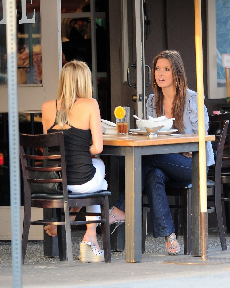 Kristin Cavallari And Audrina Patridge Filming The Hills