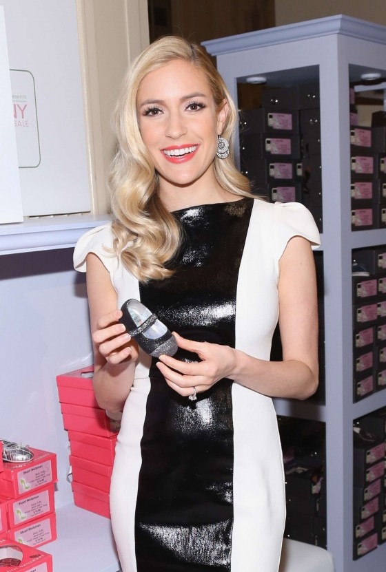 Kristin Cavallari hot in tight dress at QVC Presents FFANY Shoes