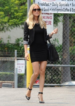 Kristin Cavallari in Black Short Dress Out in LA