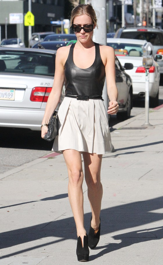 Kristin Cavallari – Leggy in Short Skirt in West Hollywood-01