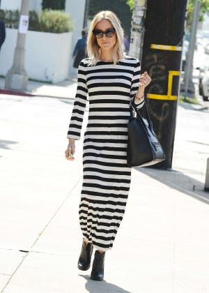 Kristin Cavallari in Long Tight Dress out in LA