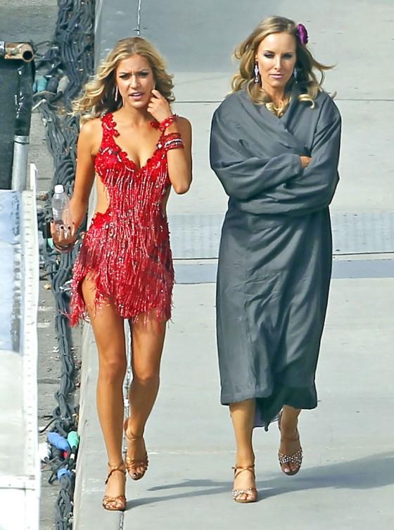 Kristin Cavallari Red Hot Dress At Dancing With