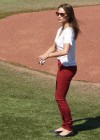 Kristin Kreuk - Throwing out the first pitch at the Toronto Blue Jays game
