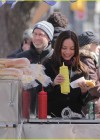 Kristin Kreuk - on the set of Beauty and the Beast-13