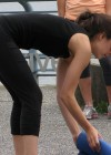 Kristin Kreuk working out in spandex -02
