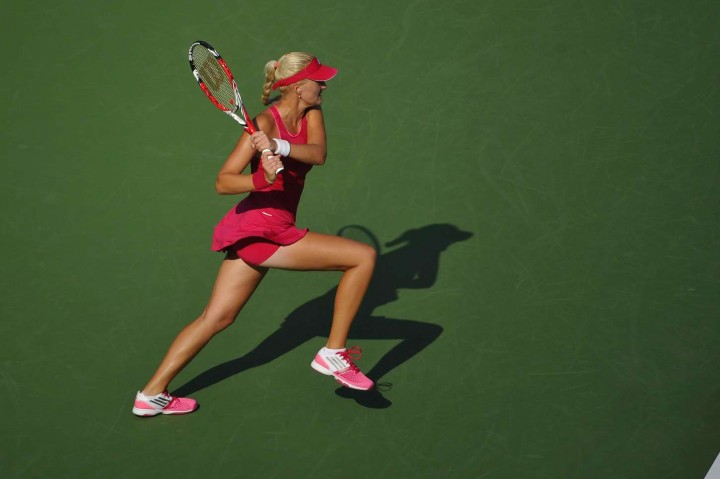 Kristina Mladenovic - US Open 2014 Tennis Tournament in New York