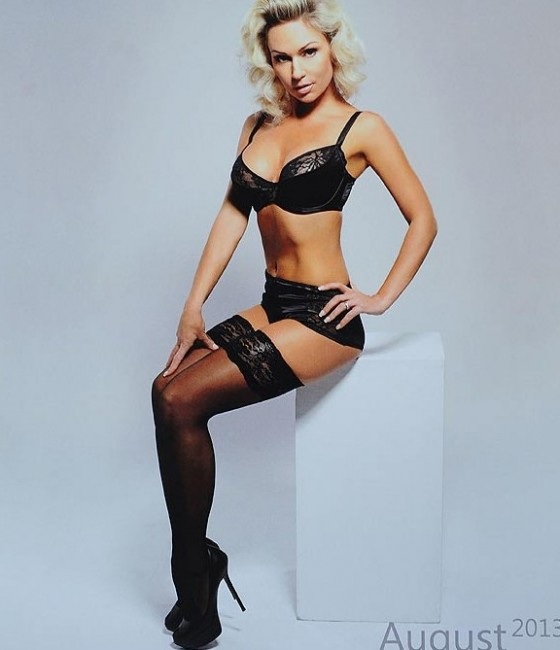 Kristina Rihanoff in lingerie photoshoot for her Calendar 2013