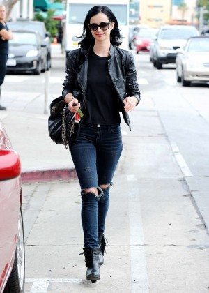 Krysten Ritter in Ripped Jeans Out in LA