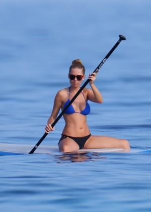 Kyara Coakes: Paddleboarding in Bikini -04