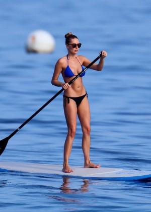 Kyara Coakes: Paddleboarding in Bikini -07