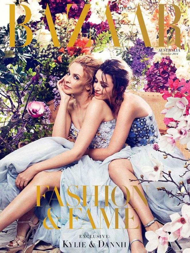 Kylie & Dannii Minogue - Harper's Bazaar Australia Magazine Cover (December 2014)