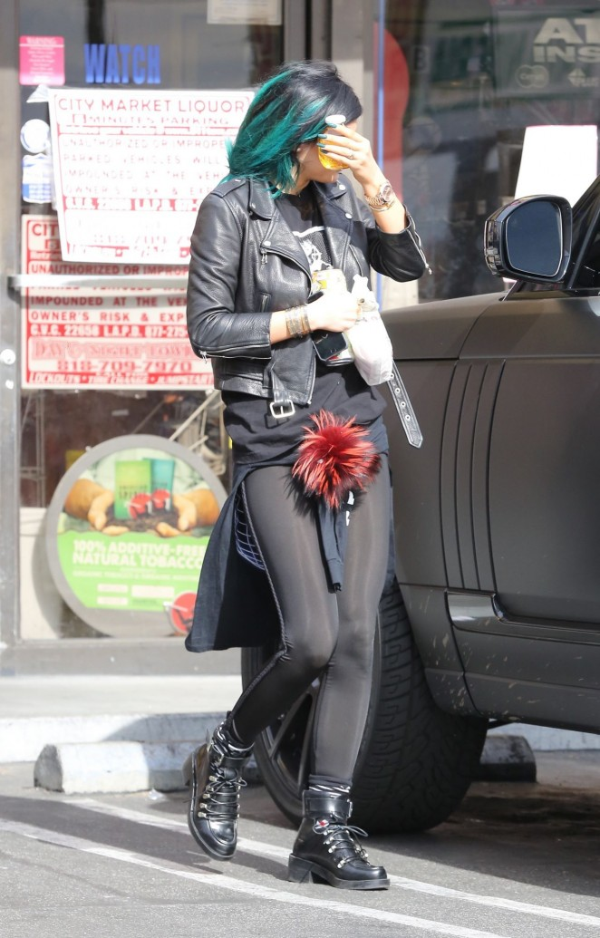 Kylie Jenner in Tights -09