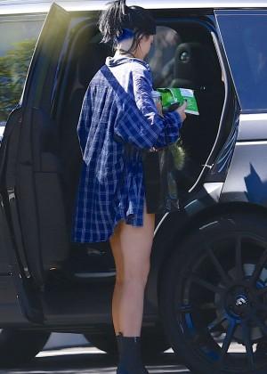 Kylie Jenner Leggy at Shopping Mall -02