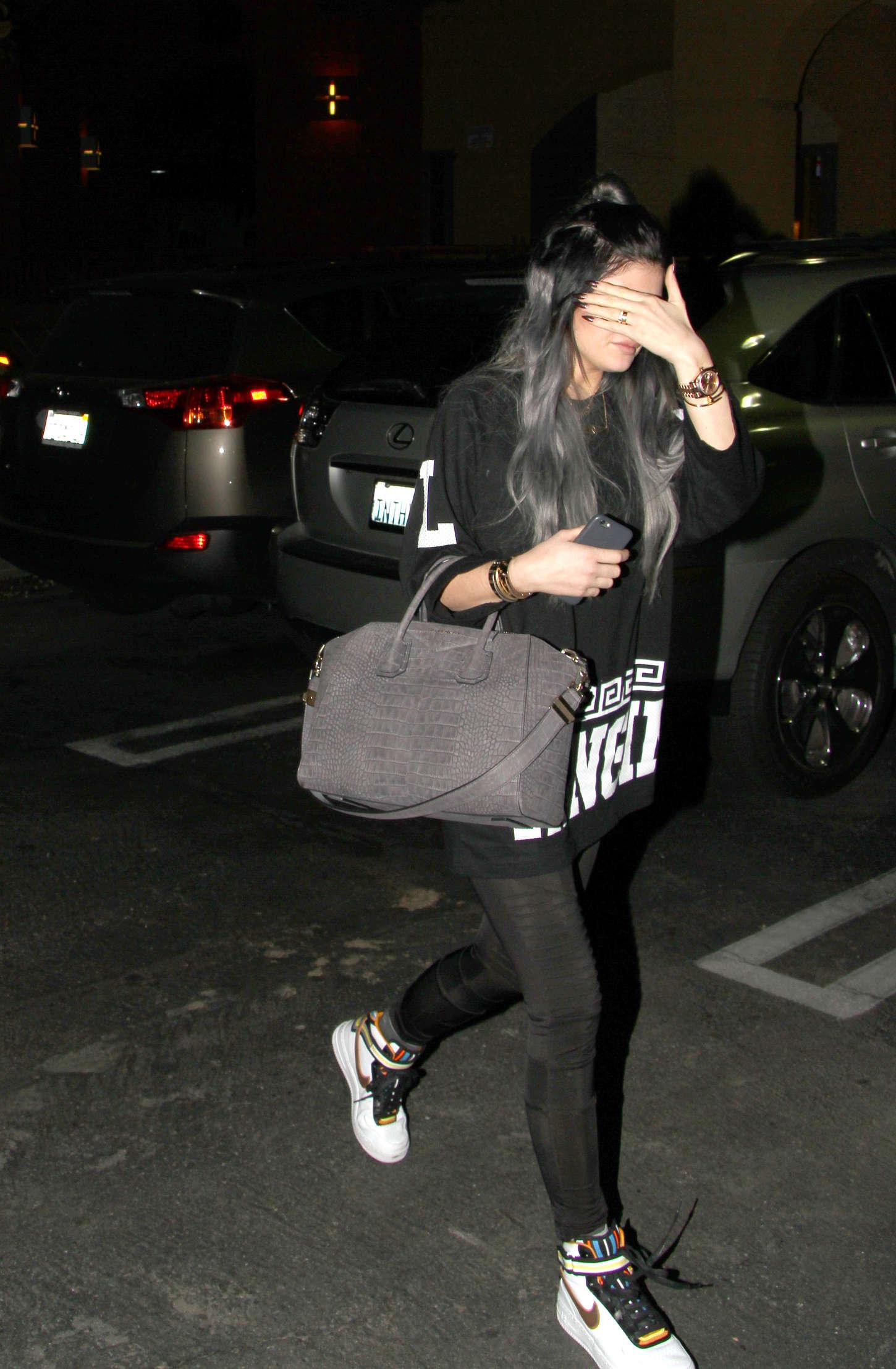 Kylie Jenner 2014 : Kylie Jenner in Spandex -17