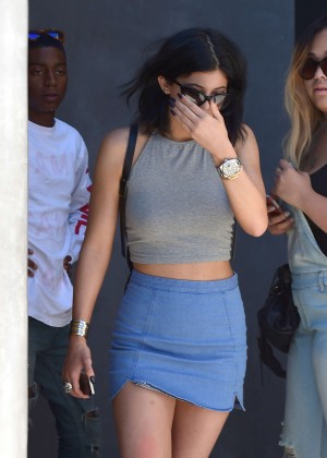 Kylie Jenner - Hot In Mini Skirt Out in West Hollywood