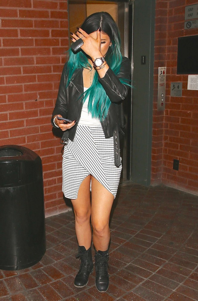 Kylie Jenner in Short Dress Leaves a Doctors Office in LA