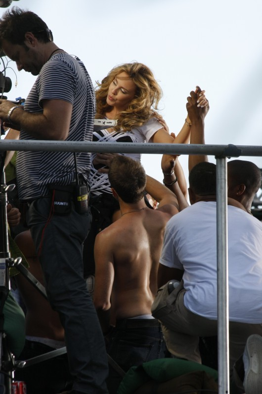 Kylie Minogue at Music Video Set in Los Angeles HQ