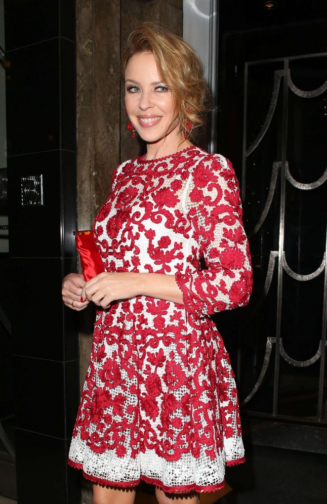 Kylie Minogue - Dolce & Gabbana Christmas Tree Party in London
