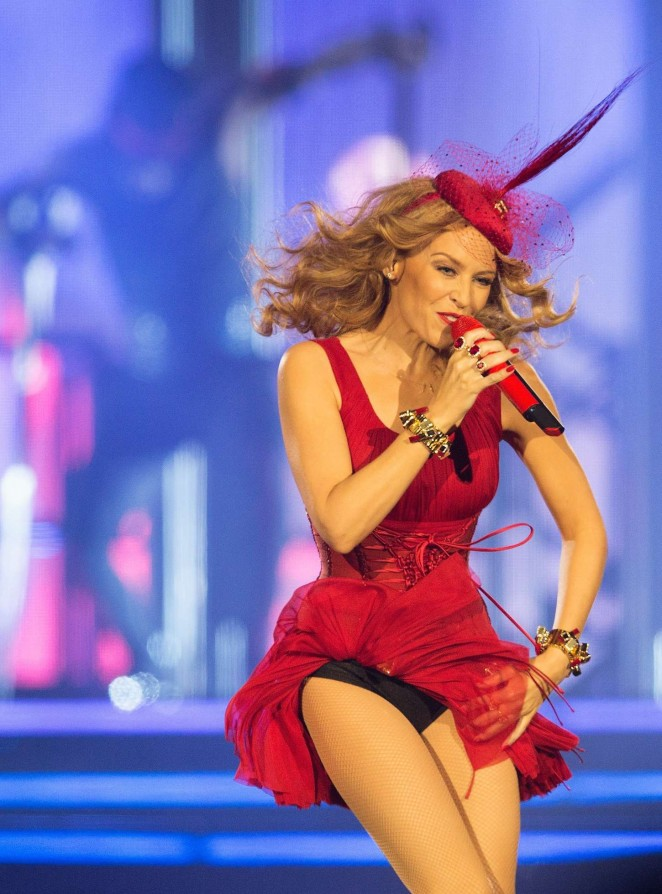 "Kylie Minogue Performs on ""Kiss Me Once"" Tour at The O2 Arena in London"