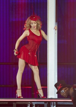 "Kylie Minogue - ""Kiss Me Once"" Tour at the Palacio de Deportes in Madrid"