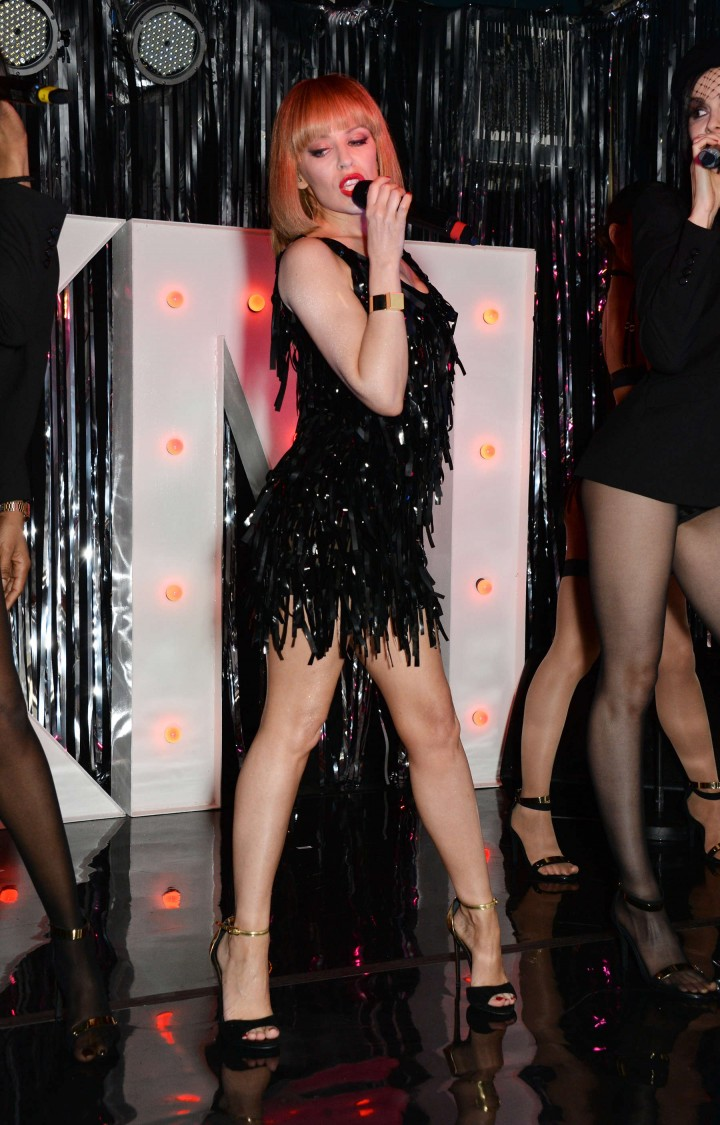 Kylie Minogue: Performance at The Old Blue Last Pub in London -05
