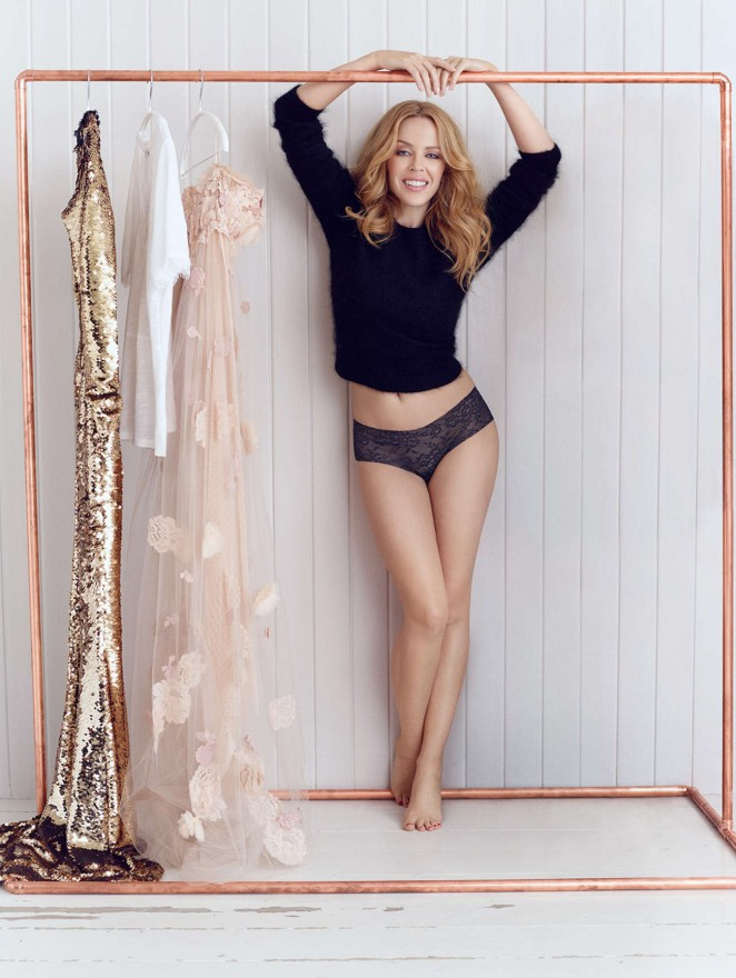 Kylie Minogue - Sloggi Photoshoot (Autmn/Winter 2014)