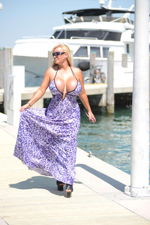 Lacey Wildd In Blue Dress 02 Gotceleb