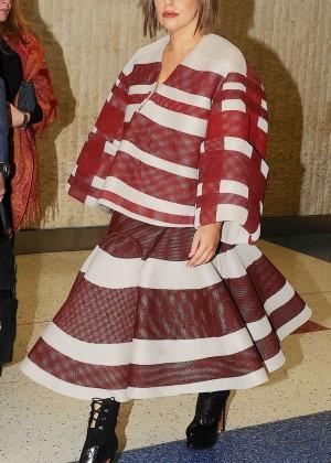 Lady Gaga at JFK Airport -01