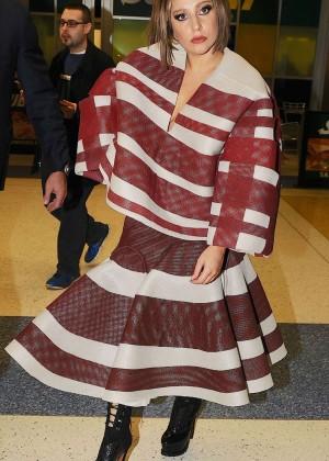 Lady Gaga at JFK Airport -03
